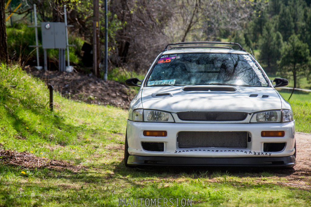 custom rwd subaru impreza with honda front lip